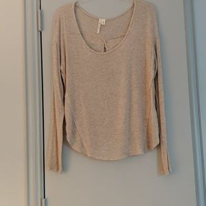 Twist Open Back Long Sleeve Tee